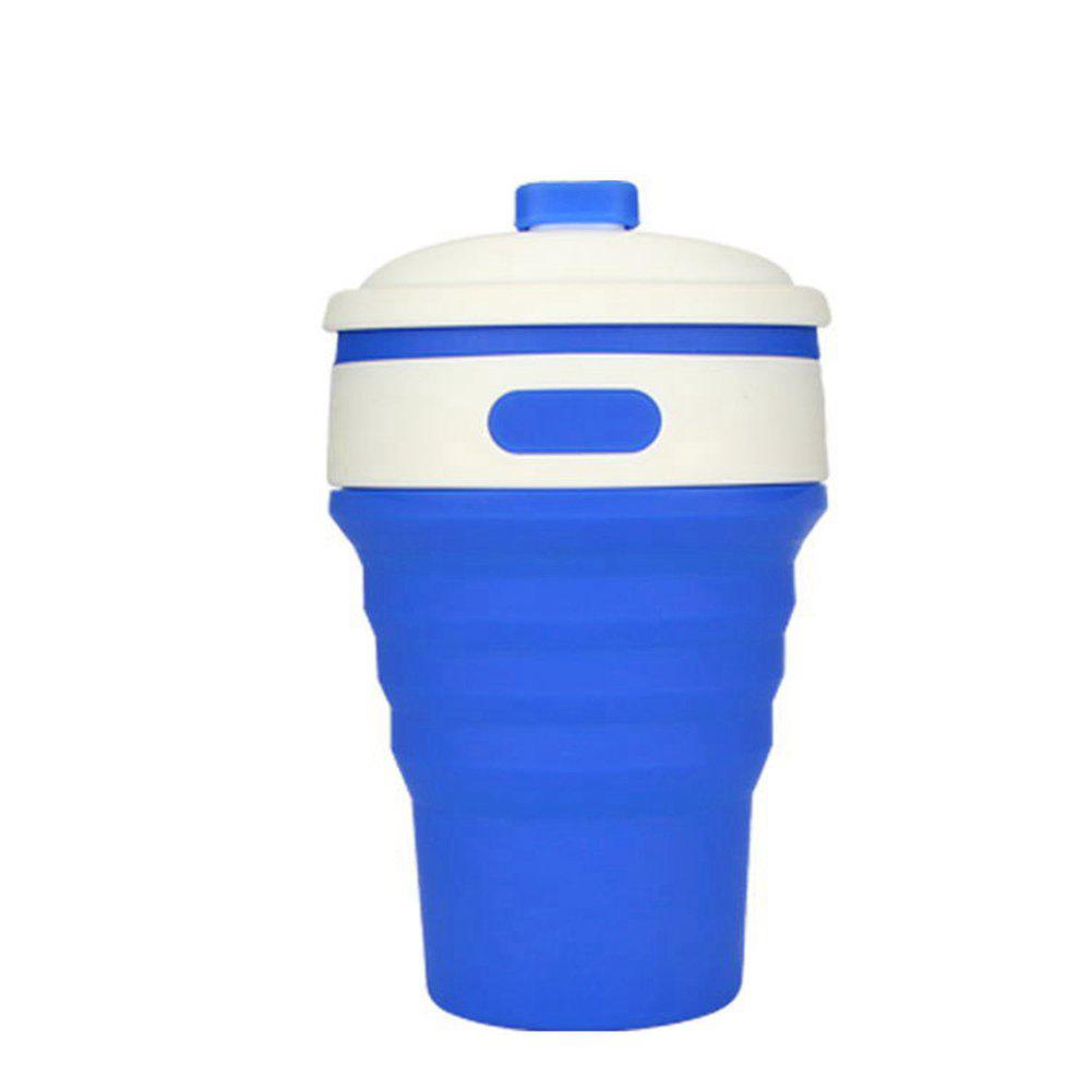 350ML Portable Silicone Collapsible Cup Folding Leak-proof Coffee Tea Mug - OCEAN BLUE