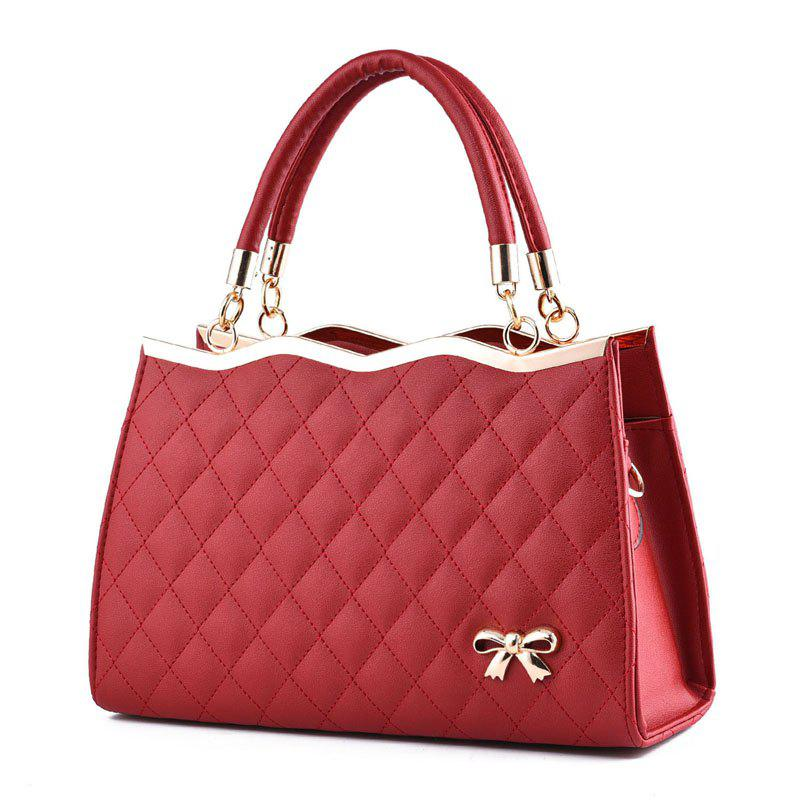 High Quality PU Leather Fashion Handbags for Women - RED WINE
