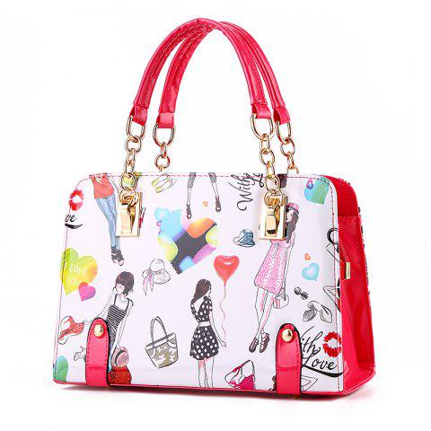New Fashion PU Leather Colorful HandBag for Women - ROGUE PINK