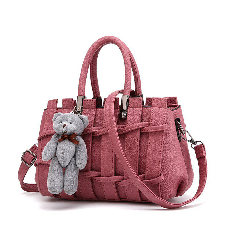 New Fashion PU Leather for Women Handbag - ROSY BROWN
