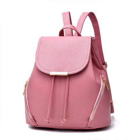 New Trend PU Leather Backpack for Women - PINK