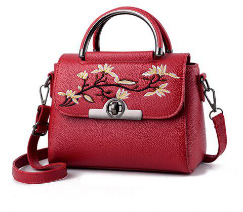 New Fashion PU Leather Lady for Handbag - RED WINE