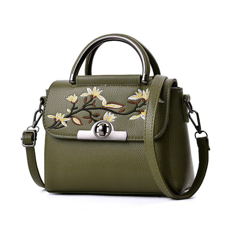 New Fashion PU Leather Lady for Handbag - ARMY GREEN