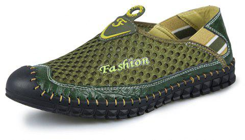 ZEACAVA Men's Fashion New Breathable Mesh Shoes - FERN GREEN 42