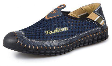 ZEACAVA Men's Fashion New Breathable Mesh Shoes - DEEP BLUE 44