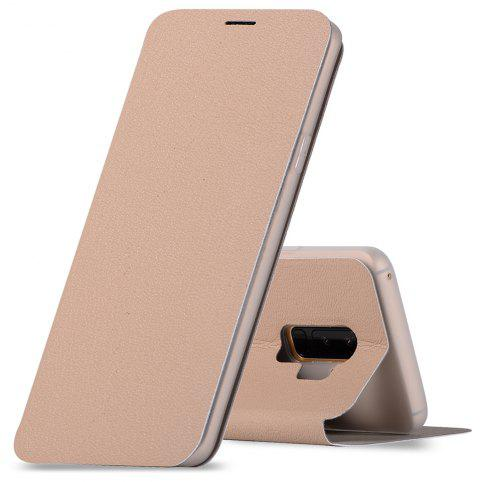 Minismile Fibre Flip Case for Samsung Galaxy S9 with Wallet / Holder / Card Slot - CHAMPAGNE