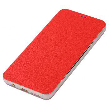 Minismile Fibre Flip Case for Samsung Galaxy S9 with Wallet / Holder / Card Slot - RED