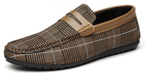 Spring Tidal Current Male Shoes Pedaling and Breathtaking - BROWN 44