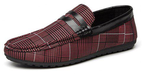 Spring Tidal Current Male Shoes Pedaling and Breathtaking - RED WINE 39