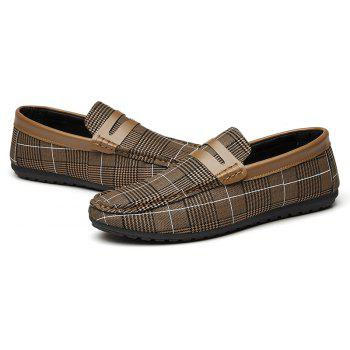 Spring Tidal Current Male Shoes Pedaling and Breathtaking - BROWN 43
