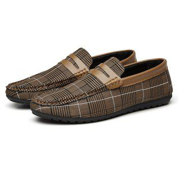 Spring Tidal Current Male Shoes Pedaling and Breathtaking - BROWN 42
