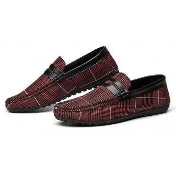 Spring Tidal Current Male Shoes Pedaling and Breathtaking - RED WINE 44