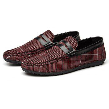 Spring Tidal Current Male Shoes Pedaling and Breathtaking - RED WINE 43