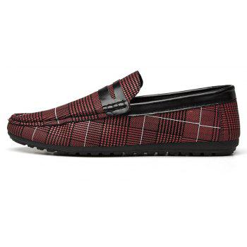 Spring Tidal Current Male Shoes Pedaling and Breathtaking - RED WINE 42