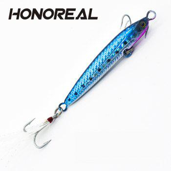 HONOREAL 14g 20g New Metal Jigging Fishing Lure Lead Fish with VMC Hook - BLUE IVY 20G