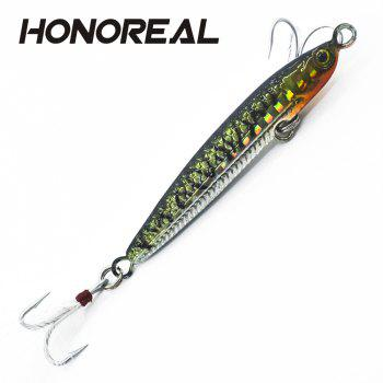 HONOREAL 14g 20g New Metal Jigging Fishing Lure Lead Fish with VMC Hook - BLACK 14G