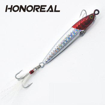 HONOREAL 14g 20g New Metal Jigging Fishing Lure Lead Fish with VMC Hook - multicolor A 14G
