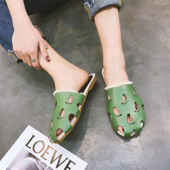 Fashionable Baotou Hollow Slippers - GREEN 39