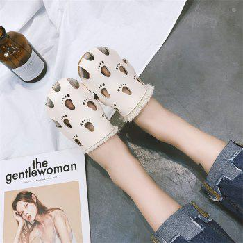 Fashionable Baotou Hollow Slippers - BEIGE 39