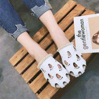 Fashionable Baotou Hollow Slippers - WHITE 38