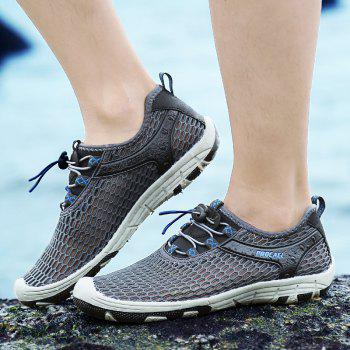 Beach Lightweight Swimming Breathable Sandals Shoes Comfort FlatsSneakers - DARK GRAY 40