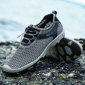 Beach Lightweight Swimming Breathable Sandals Shoes Comfort Flats Sneakers - DARK GRAY 45