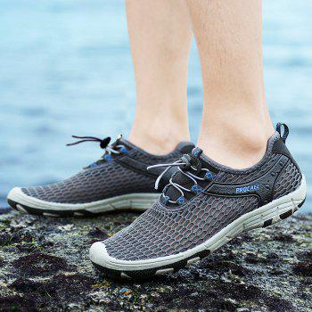 Beach Lightweight Swimming Breathable Sandals Shoes Comfort Flats Sneakers - DARK GRAY 39