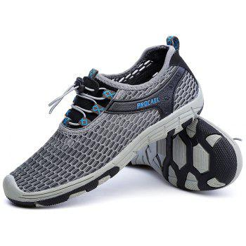 Beach Lightweight Swimming Breathable Sandals Shoes Comfort FlatsSneakers - DARK GRAY 41