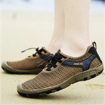 Beach Lightweight Swimming Breathable Sandals Shoes Comfort FlatsSneakers - BROWN BEAR 42