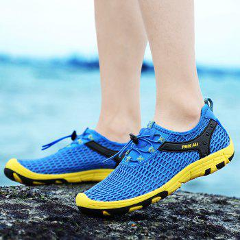 Beach Lightweight Swimming Breathable Sandals Shoes Comfort Flats Sneakers - OCEAN BLUE 37