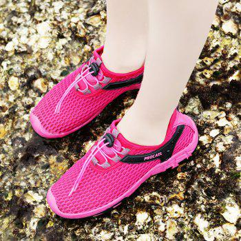Beach Lightweight Swimming Breathable Sandals Shoes Comfort Flats Sneakers - ROSE RED 40