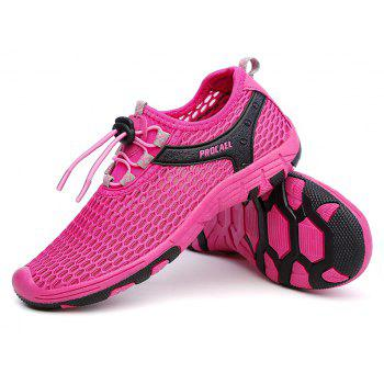 Beach Lightweight Swimming Breathable Sandals Shoes Comfort FlatsSneakers - ROSE RED 38