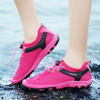 Beach Lightweight Swimming Breathable Sandals Shoes Comfort FlatsSneakers - ROSE RED 39