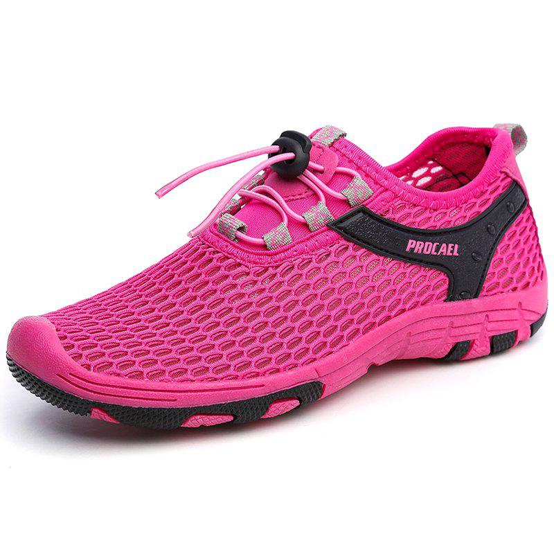 Beach Lightweight Swimming Breathable Sandals Shoes Comfort Flats Sneakers - ROSE RED 36