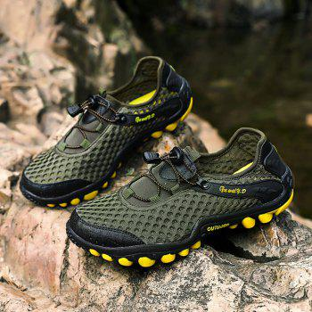 Lightweight Beach Swimming Breathable Sandals Shoes Comfort FlatsSneakers - CAMOUFLAGE GREEN 40