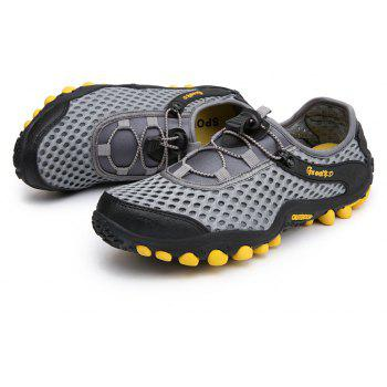 Lightweight Beach Swimming Breathable Sandals Shoes Comfort Flats Sneakers - BATTLESHIP GRAY 42