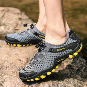 Lightweight Beach Swimming Breathable Sandals Shoes Comfort FlatsSneakers - BATTLESHIP GRAY 44