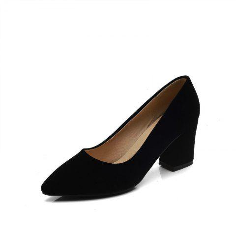 Commuter Pointed High Heeled Leisure Women Shoes - BLACK 36