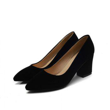 Commuter Pointed High Heeled Leisure Women Shoes - BLACK 37