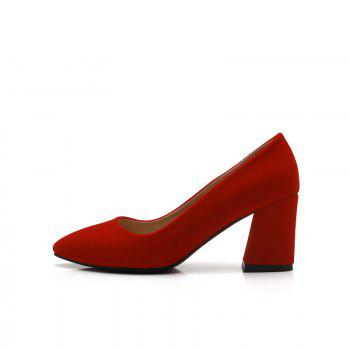 Commuter Pointed High Heeled Leisure Women Shoes - RED 35