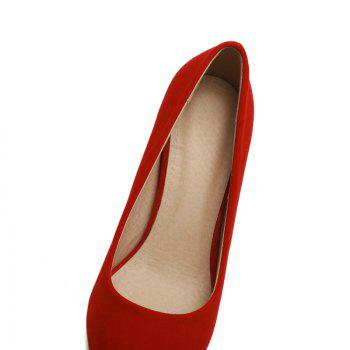 Commuter Pointed High Heeled Leisure Women Shoes - RED 38