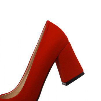 Commuter Pointed High Heeled Leisure Women Shoes - RED 43