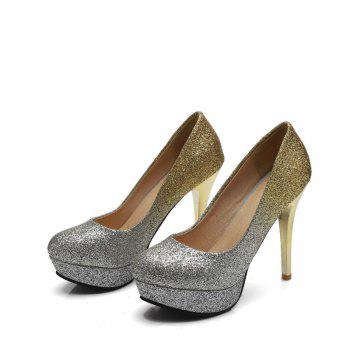 Super High Heel Waterproofing Women Shoes - GOLD 39