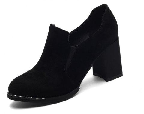 Slack and High Heeled Leisure Professional Women Shoes - BLACK 38