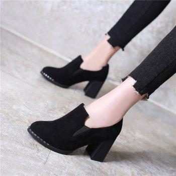 Slack and High Heeled Leisure Professional Women Shoes - BLACK 35