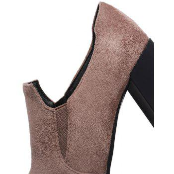 Slack and High Heeled Leisure Professional Women Shoes - BEIGE 37