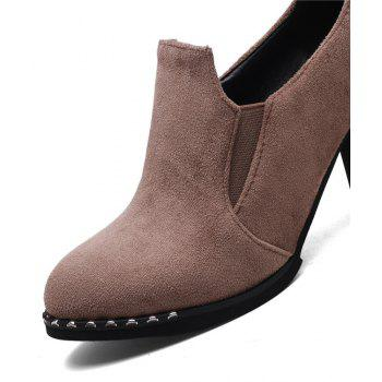 Slack and High Heeled Leisure Professional Women Shoes - BEIGE 40