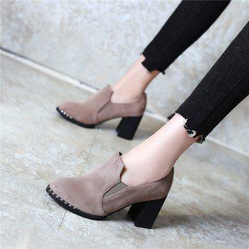 Slack and High Heeled Leisure Professional Women Shoes - BEIGE 43