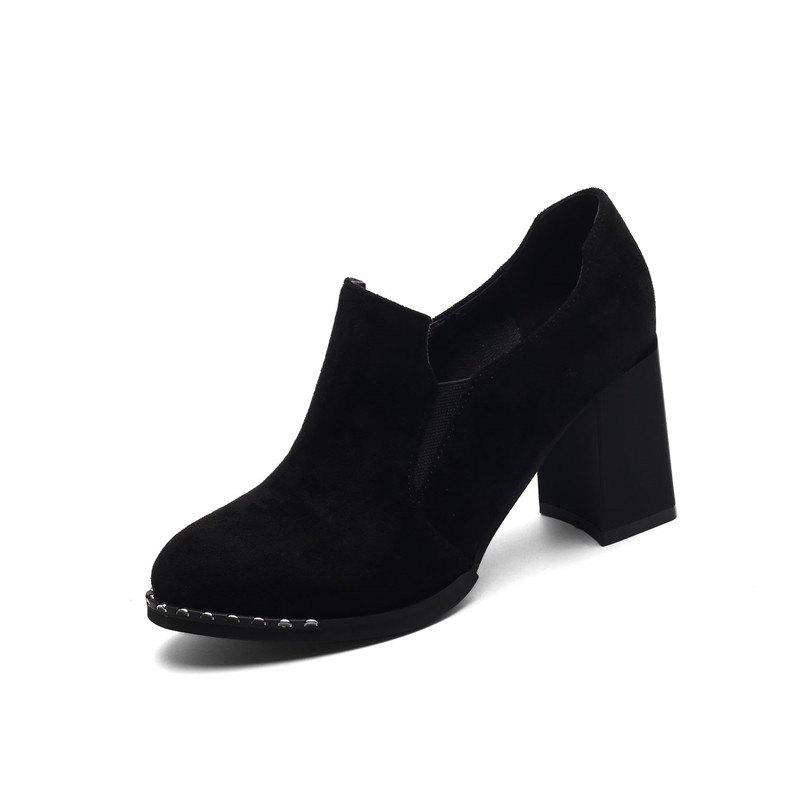 Slack and High Heeled Leisure Professional Women Shoes - BLACK 40