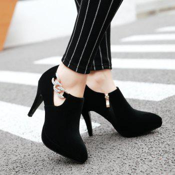 Sexy Sanding High Heeled Women Shoes - BLACK 37